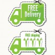 Free delivery, free shipping labels — Grafika wektorowa