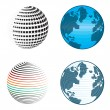 Abstract globe icons and symbols - Stock Vector