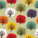 Seamless tree pattern — Stock Vector