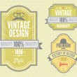 Stock Vector: Vector set vintage labels
