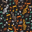 Musical background from notes — Stock Vector
