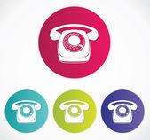Staré ikony telefonu — Stock vektor