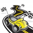 Cute race car - Image vectorielle