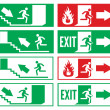 Emergency exit sign — Stock Vector #25491689
