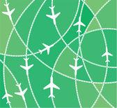 Airplane destination routes — Stock Vector