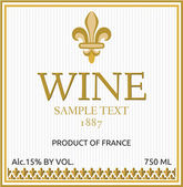 Wine label design — Stock Vector