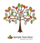 Seasonal tree autumn vector template — Stok Vektör