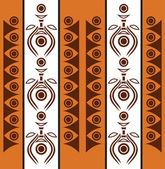 Aboriginal abstract background — Stock Vector