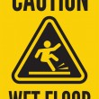 Stock Vector: Caution wet floor