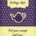 Retro greeting card template design — Stock Vector