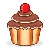 Cupcake vector illustration — Stock Vector