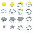 Royalty-Free Stock Vector Image: Set of weather icons