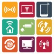 Wireless technology web icons set — Stock Vector #26505027