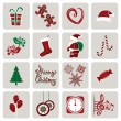 Royalty-Free Stock Vector Image: Set of icons for New Year and Christmas