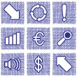 Royalty-Free Stock Vector Image: Set of web icons