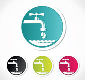 Water tap icons — Stock Vector