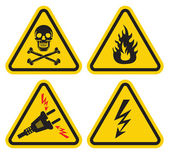 Set of Warning Sign — Stock Vector