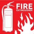 Fire extinguisher sign — Stock Vector #26847485