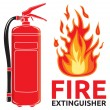 Fire extinguisher sign — Stock Vector #26847503