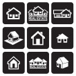 House icons set. Real estate. — Stock Vector #26847575