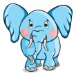 Cute cartoon elephant — Stock Vector