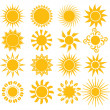 Suns - elements for design — Stock Vector #26847623