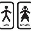 Man and women restroom sign — Vector de stock