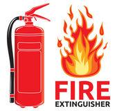 Letrero de extintor — Vector de stock