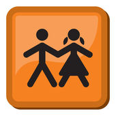 Boy and Girl icon — Stock Vector