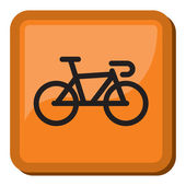 Bicycle icon - bike icon — 图库矢量图片