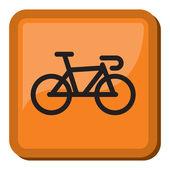 Значок велосипедов - велосипед — Cтоковый вектор