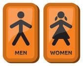 Signe de toilettes homme et femme — Vecteur