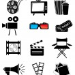 Movie icon set — Stock Vector #27132801