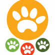 Paw Print icons — Stock Vector #27428313