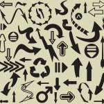 Arrows seamless pattern — Stock Vector