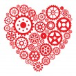 Heart from gears — Stock Vector #27428399