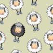Stock Vector: Sheep Seamless pattern