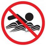没有游泳迹象 — 图库矢量图片