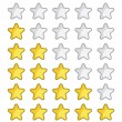 Stock Vector: Rating stars for web site