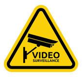Video surveillance sign — Stock Vector