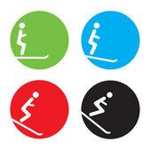 Ski icons — Stock Vector