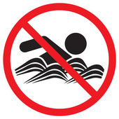 No Swimming sign — Stock Vector