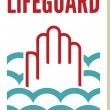 Lifeguard sign — Stock Vector