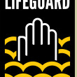 Stock Vector: Lifeguard sign