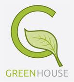 Green House — Stock Vector