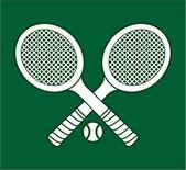 Tennis rackets — Stock Vector