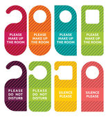 Do not disturb door hanger set — Stock Vector