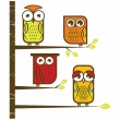 Stock Vector: Owl collection