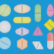 Set of pills — Stock Vector