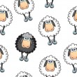 Sheep Seamless pattern — Stock Vector
